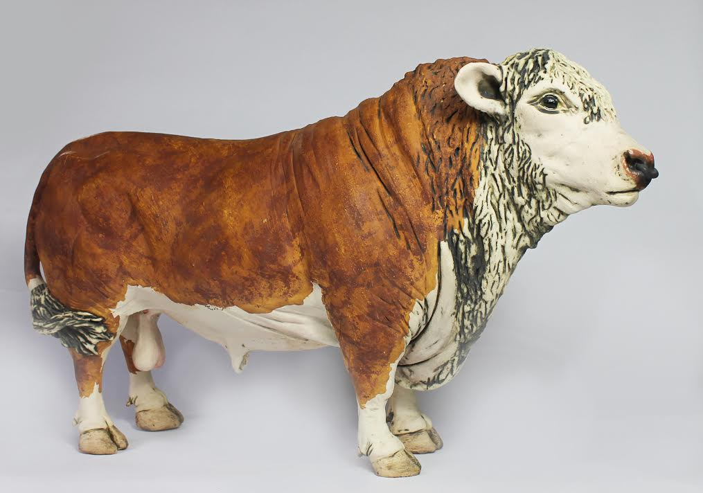 Ceramic Hereford Bull