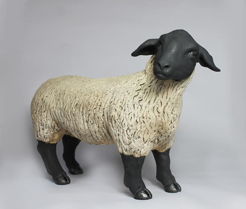 Ceramic Suffolk Sheep