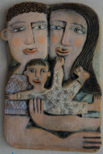 Ceramic Relief A New Baby