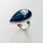 Silver and Black Onyx ring