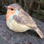 Stoneware Robin Sculpture