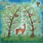 Hand embellished print Enchanted Forest