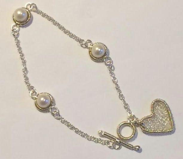 Pearl & Heart Bracelet