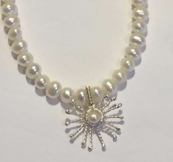 Pearl Sunstar Necklace