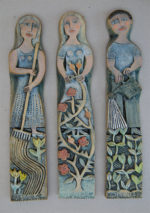 Ceramic Relief Three Gardeners