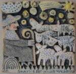 Ceramic Wall Relief Shepherd