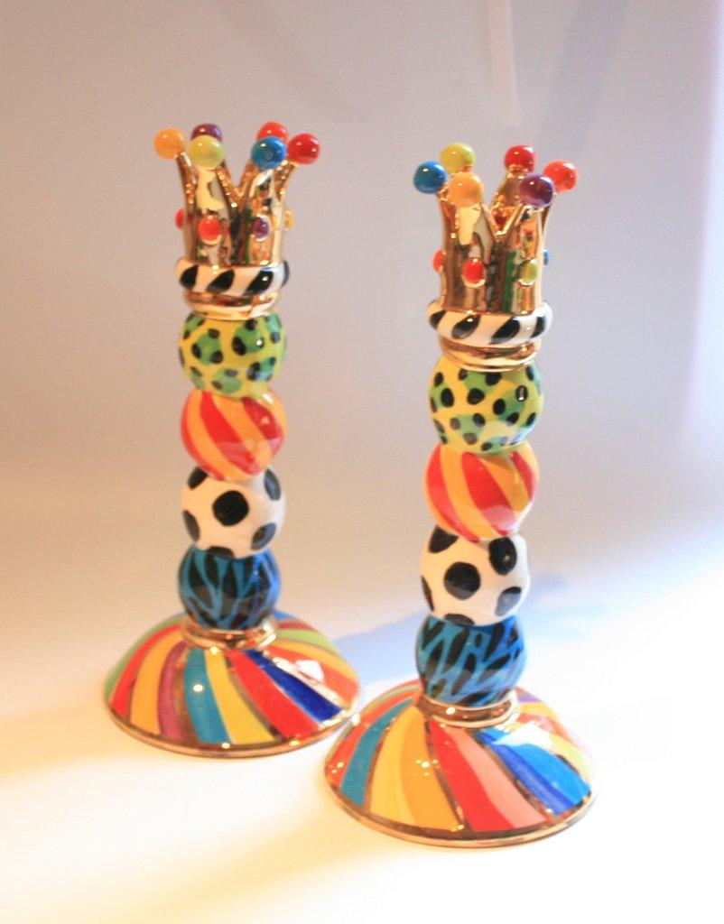 Ceramic Crown Bead Candle Stick