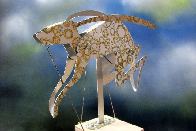 Running Hare Automata Gold on White