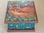 Hand painted box 'Enchanted Garden'