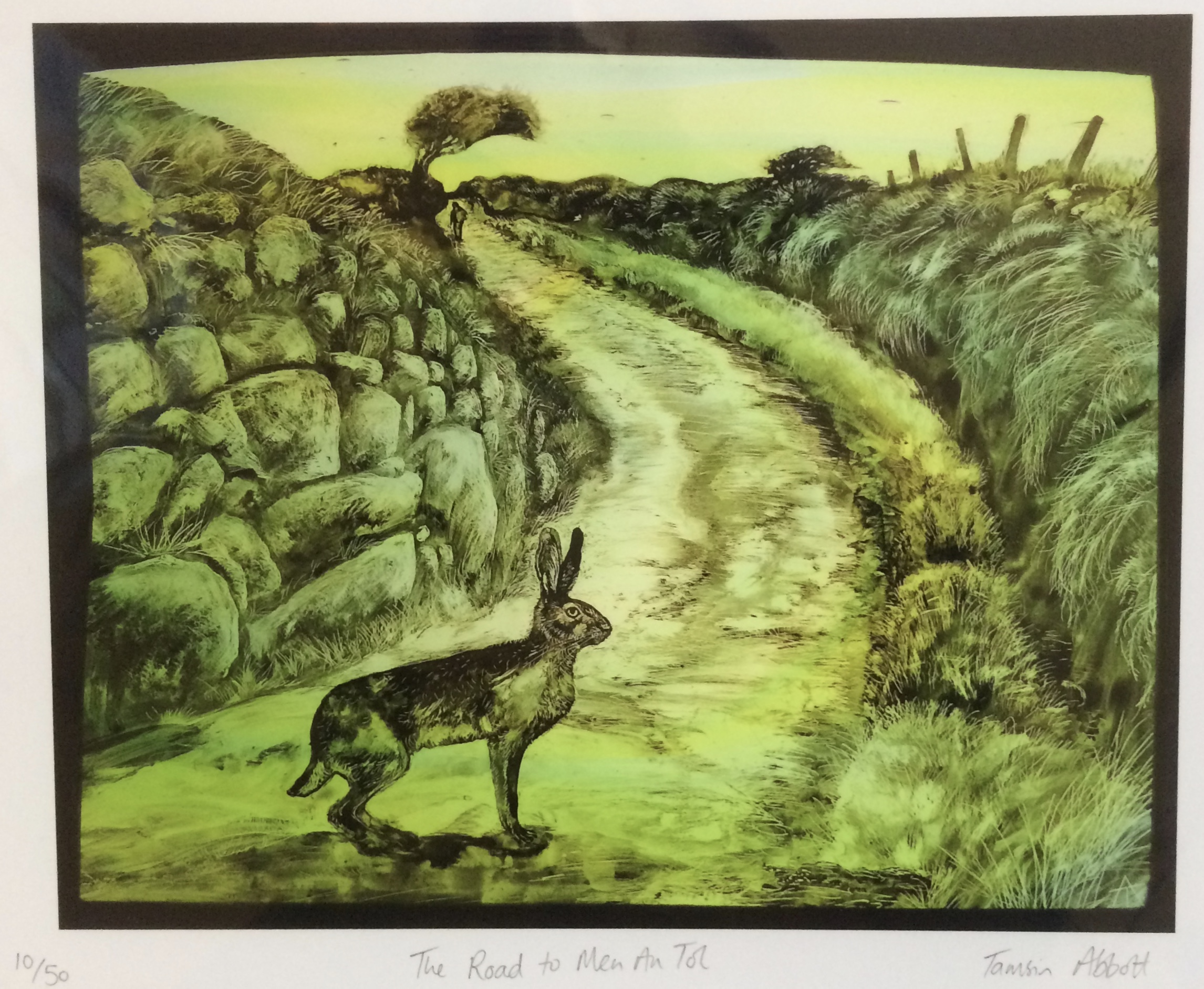 Print of stained glass panel - Men An Tol