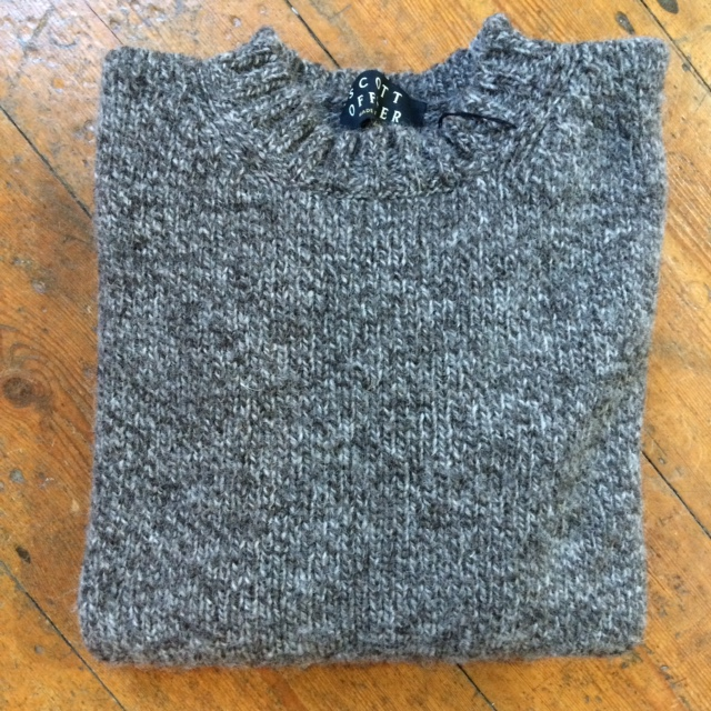 Pure Wool Unisex Sweater Pebble Gritstone