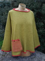 Tunic Sweater 'Calypso' in sap/flame