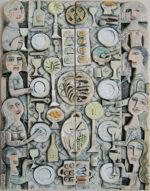 Ceramic Relief Dinner for 8