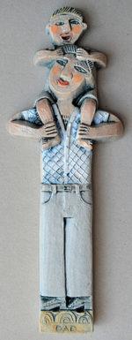 Ceramic Relief 'Dad'