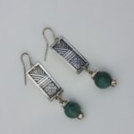 Silver and Turquoise drop earrings