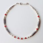 Silver and Bamboo Coral Necklace