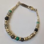 Silver, Picasso Agate and Turquoise Bracelet