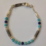 Silver with Lapis and Turquoise Bracelet