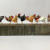 Hand Carved Wood Chicken Run