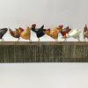 Hand Carved Wood Chicken Run