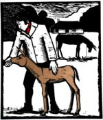 Limited Edition Woodcut 'Mr Coleridge'