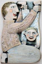 Ceramic Relief Father & Son
