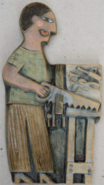 Ceramic Relief  Sawing