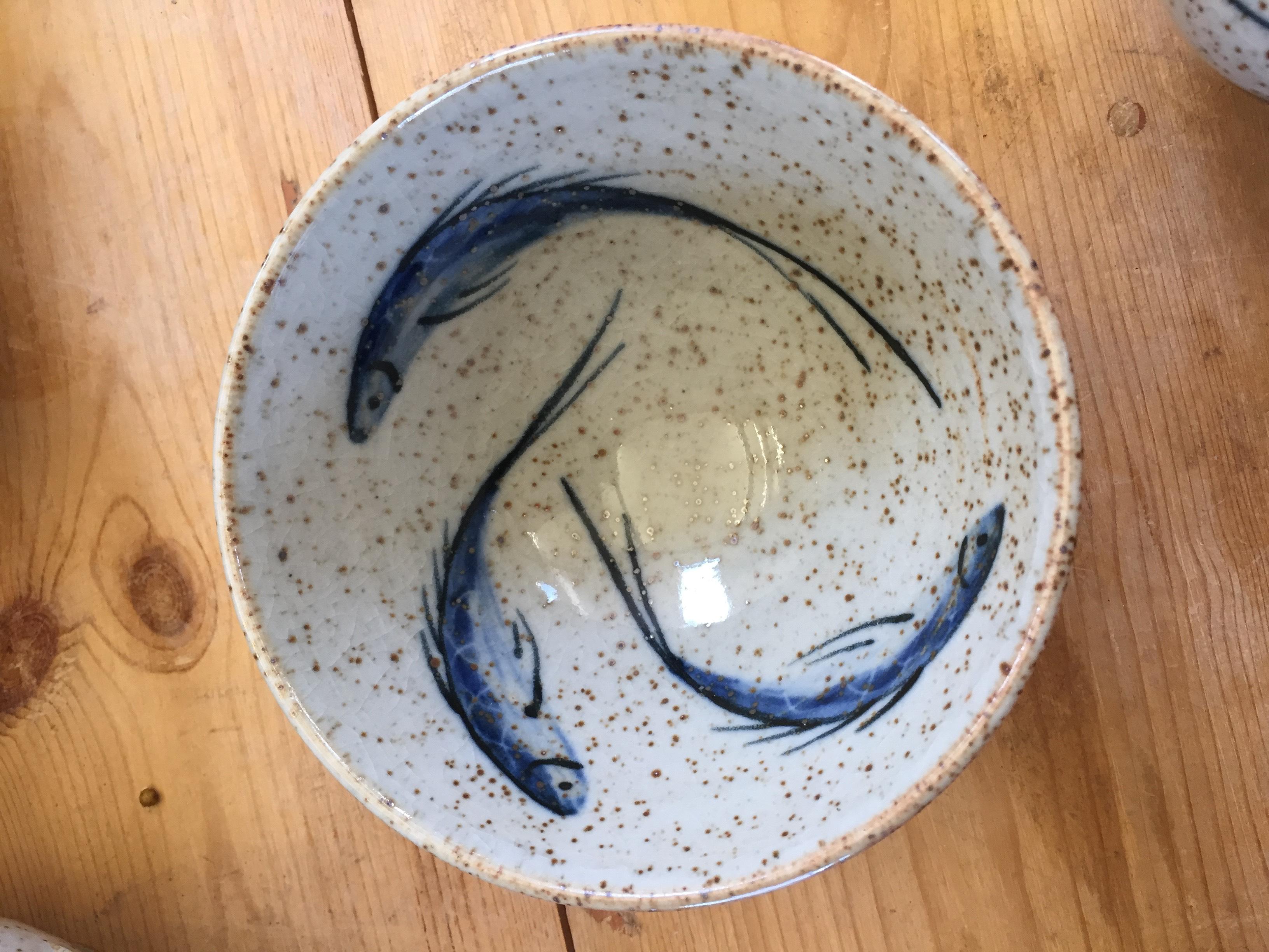 Stoneware Bowl Fish design