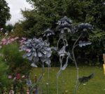 Forged Iron Chrysanthemum on spike