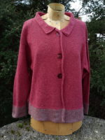 Cardigan 'Inga' in Old Rose and Sage