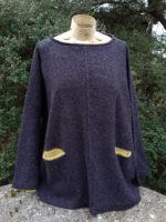 'Tunic Sweater 'Carousel' in graphite/sap