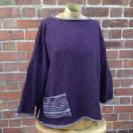 Calypso Tunic sweater in Plum