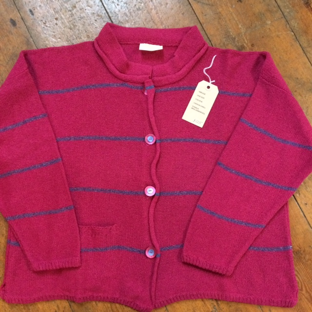 Cerise and Bluebell One Size Cardi