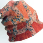 Hand Felted Orange Beanie