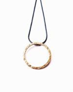 Small Circle Silver Gilt Pendant