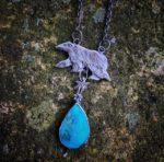 Silver Polar Bear pendant