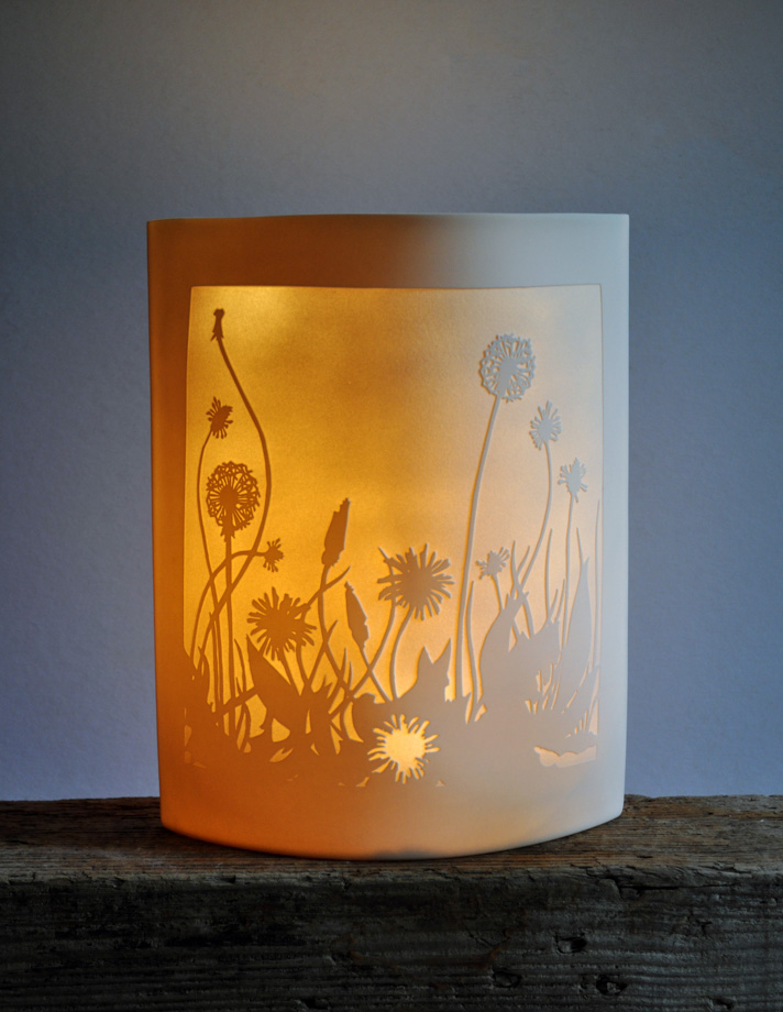 Porcelain Ellipse Light 'Dandelions'