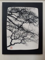 Ceramic Wall Mounted 'Winter Beech' Printed Porcelain