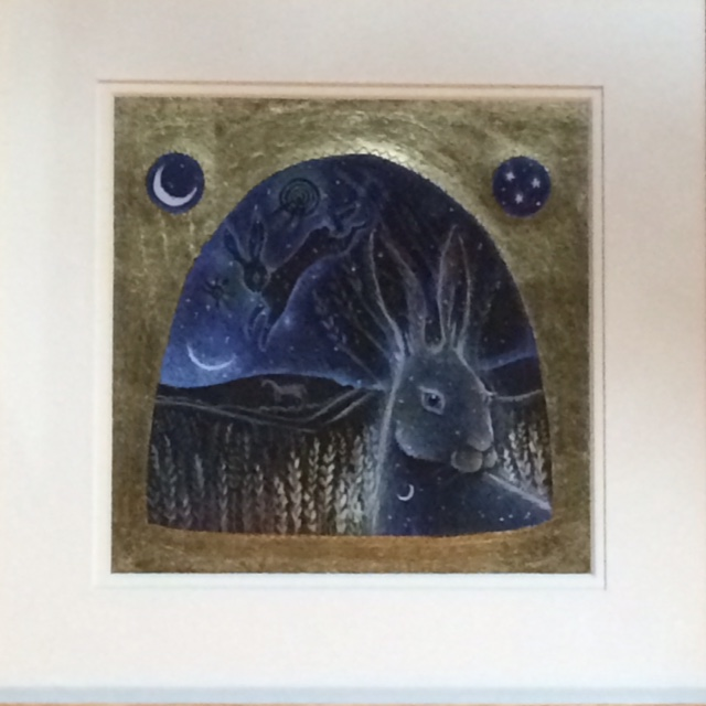 Hand Gilded Limited Edition Print Spirit of The Hare