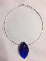 Acrylic Marquise Shaped Pendant in Azure