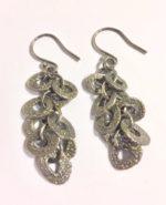 Oxidised Silver Multilink drop earrings