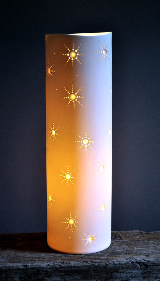 Porcelain Cylinder Light 'Starlets'