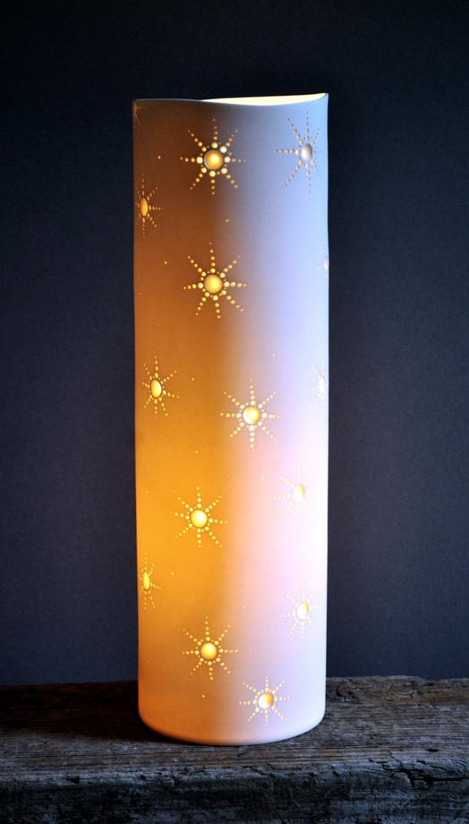 Porcelain Cylinder Light 'Starlets'