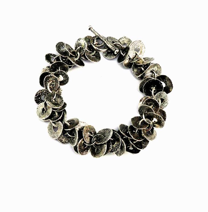 Oxidised Silver Multi Link Bracelet
