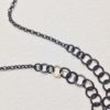 Necklace Oxidised Silver and Gold