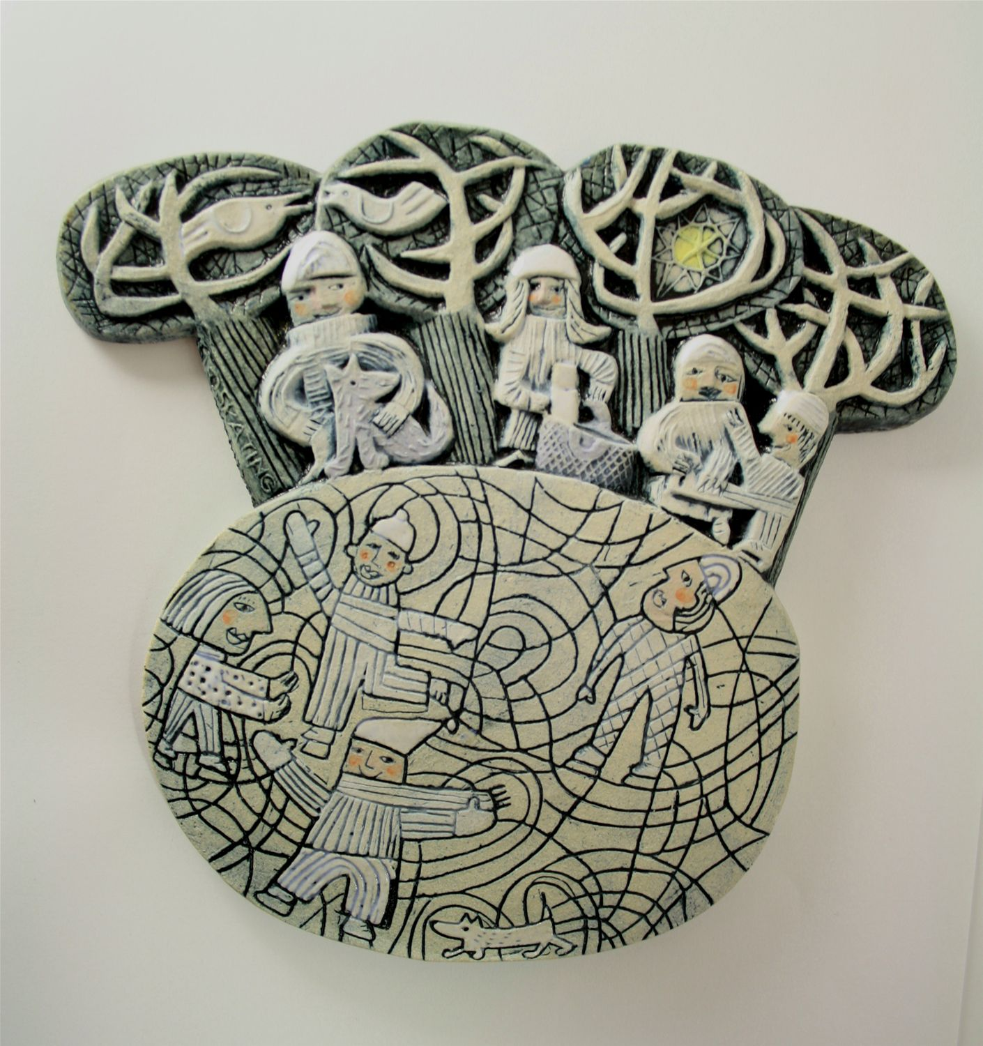 Ceramics Relief 'Skating'