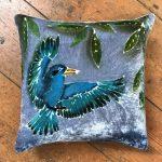 Blue Kingfisher Cushion