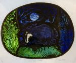 Print'Ancient Woodland Badger'