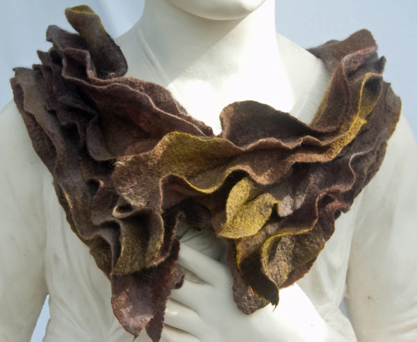 Hand Felted Collar with Ripples
