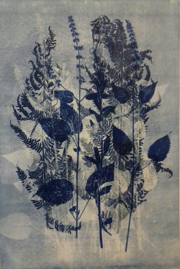 Colour Mono-print - Blue Forest